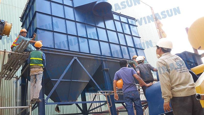 Lắp đặt bộ lọc bụi công suất 75kW - Nhà máy gạch Prime