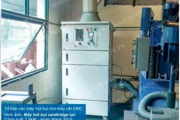 Tổ hợp các máy hút bụi cho máy cắt CNC – Sacomec Vina Hàn Quốc